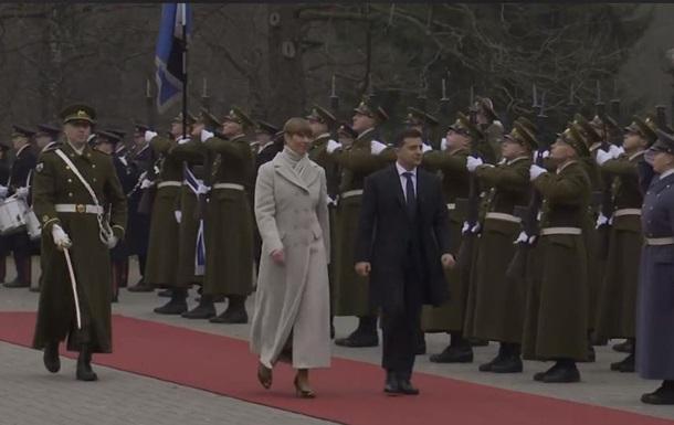 Зеленський розпочав візит до Естонії