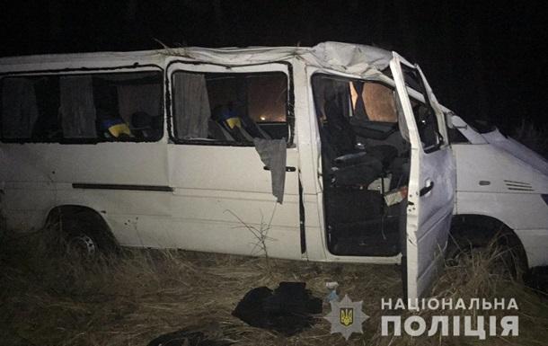 На Житомирщині перекинувся мікроавтобус: вісім постраждалих