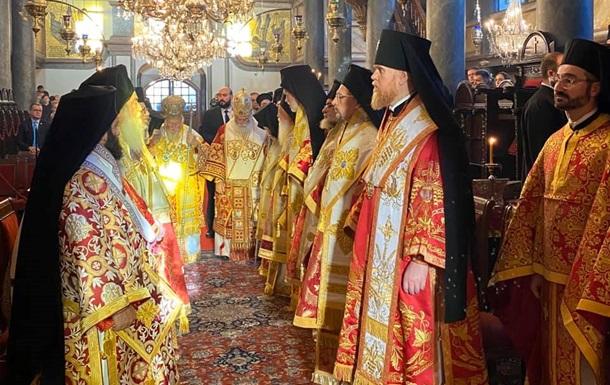 Ієрархи ПЦУ провели богослужіння в Стамбулі