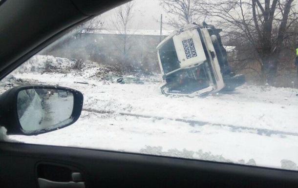 В Макеевке перевернулось авто миссии ОБСЕ