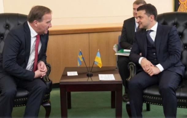 Зеленский проводит встречу с премьером Швеции