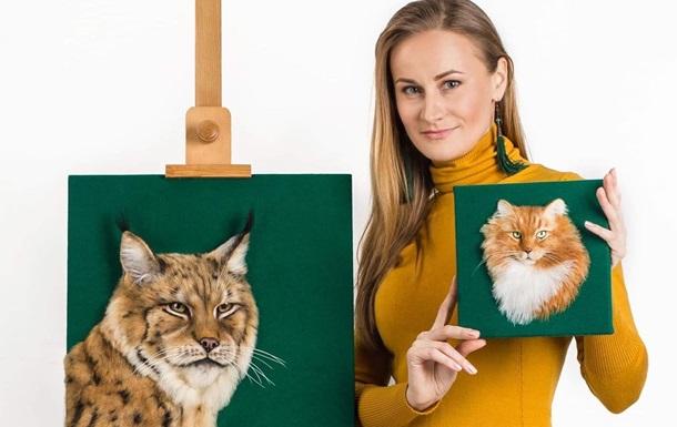 Девушка создает невероятно реалистичные 3D-портреты животных