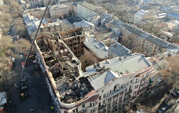 Пожежа в Одесі: з явилися фото роботи рятувальників у завалах