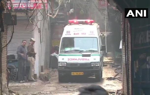 В Індії під час пожежі на фабриці загинуло понад 40 осіб