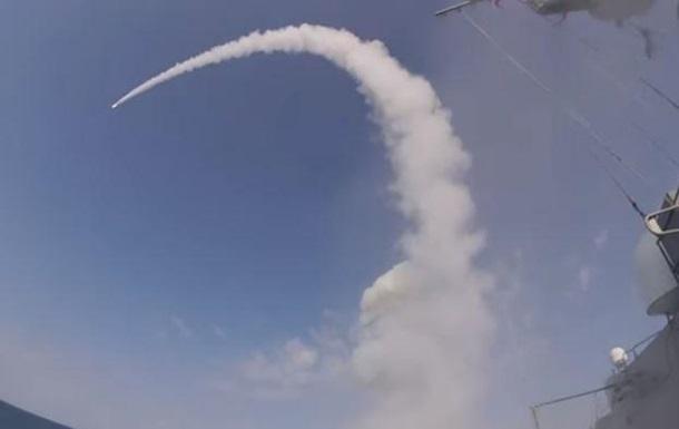Обнародовано видео поражения цели российской ракетой Калибр
