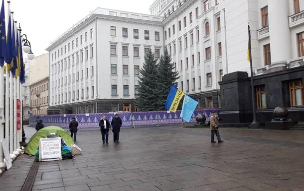 Біля входу в Офісу Президента встановлюють ковзанку