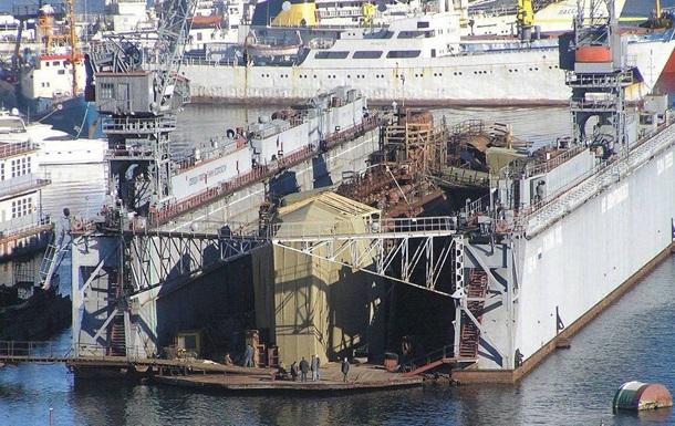 У Криму затонув плавучий док з підводним човном - ЗМІ