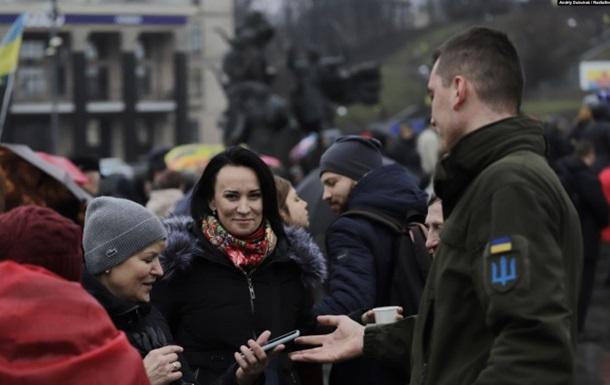 У центрі Києва мітингують на підтримку підозрюваних у справі Шеремета
