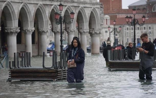 В Венеции началось очередное наводнение