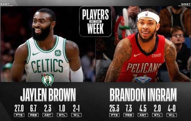 Джейлен Браун і Брендон Інгрем - найкращі гравці тижня в НБА