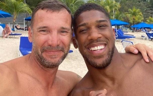 Шевченко и Джошуа встретились на пляже Барбадоса