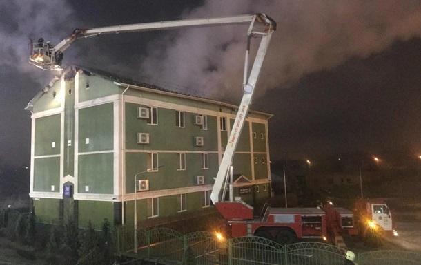 В Киеве горело здание Свидетелей Иеговы