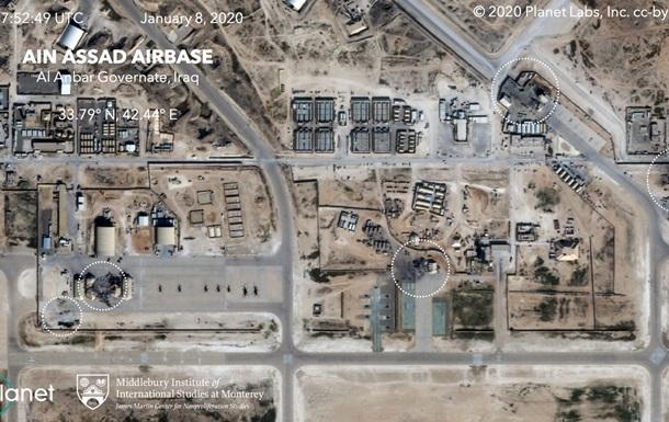 Появились фото баз США в Ираке после ракетного удара