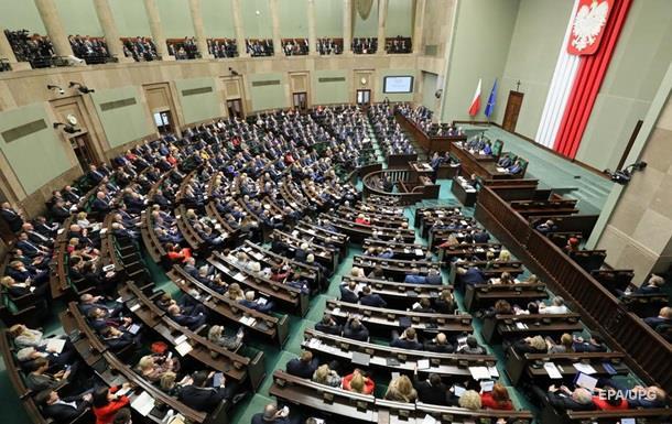 Сейм Польши осудил высказывания Путина о Второй мировой войне