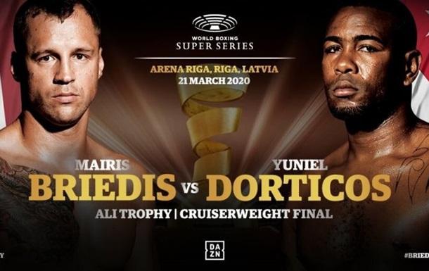 Стала известна дата финального боя Всемирной боксерской суперсерии Бриедис - Дортикос