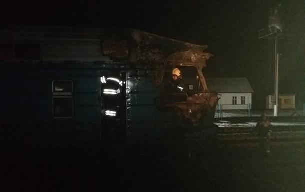 Під Сумами під час руху загорівся поїзд