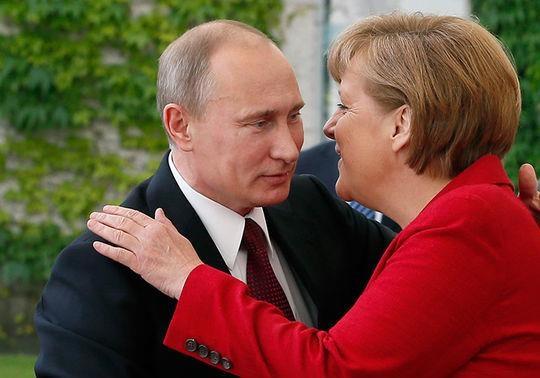 Союз Путіна та Меркель у Кремлі: проти США, Трампа та України