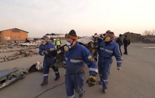 ГСЧС показала работу на месте крушения самолета