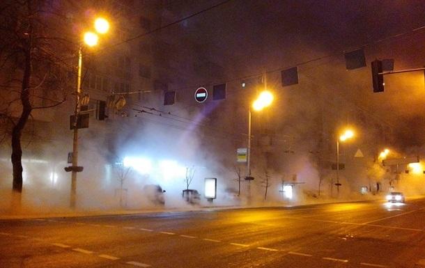 У Києві на Теремках прорвало тепломережу