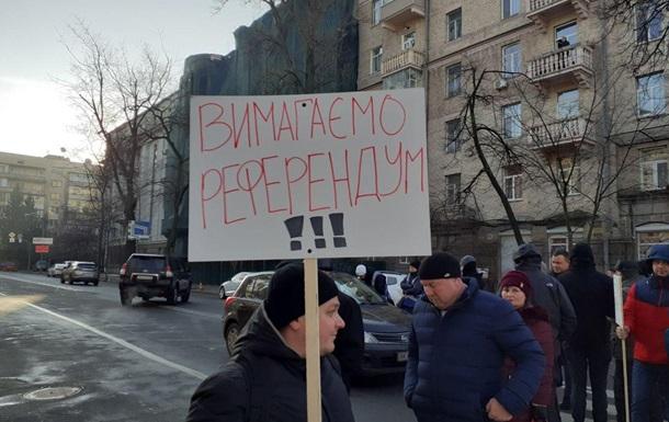Противники ринку землі знову перекрили центр Києва