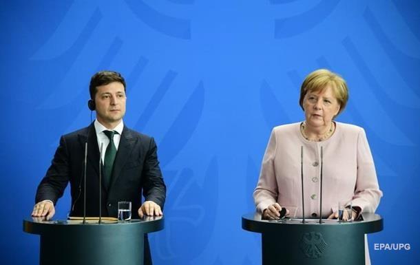 Зеленский обсудил с Меркель газ, Донбасс и Иран