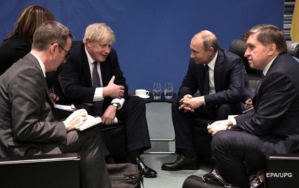 Джонсон відмовив Путіну в поліпшенні відносин