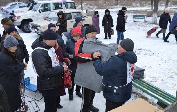 Червоний Хрест відправив 100 тонн гуманітарки в  ЛДНР
