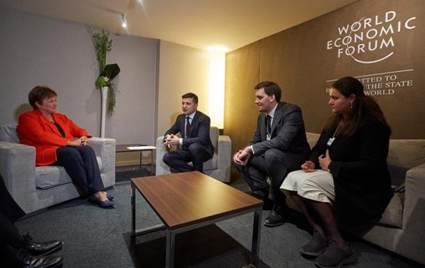 Зеленский обсудил в Давосе новый транш МВФ