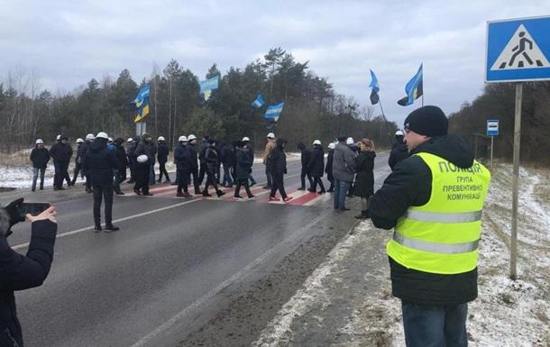 На Львовщине шахтеры перекрыли международную трассу
