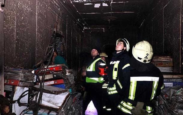 Названа возможная причина пожара в здании Минкульта