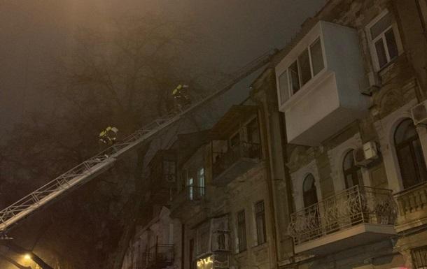 В центре Одессы горел памятник архитектуры