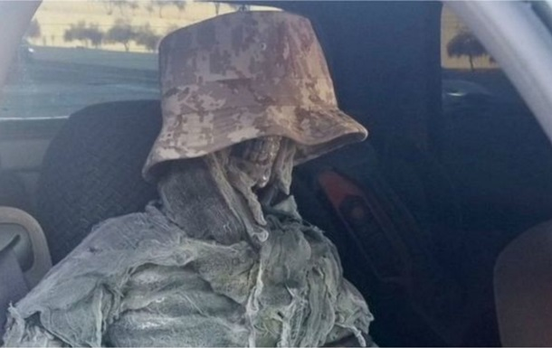 Американець возив скелет в авто для пільг