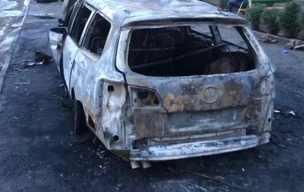 В Запорожье сгорело авто активиста