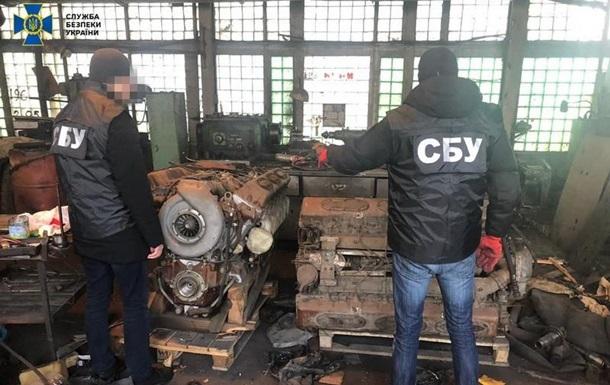 Во Львове нашли склады с контрабандными запчастями к бронетехнике
