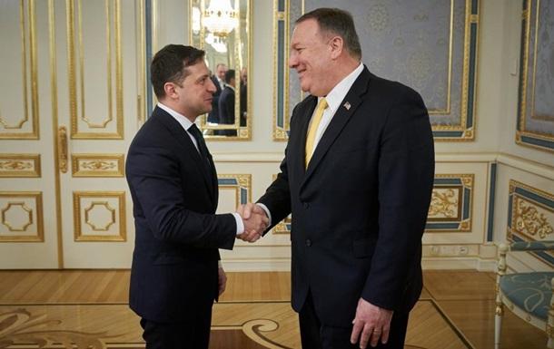 Зеленский и Помпео обсудили Донбасс и инвестиции