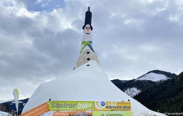 В Австрії зліпили найвищого у світі сніговика