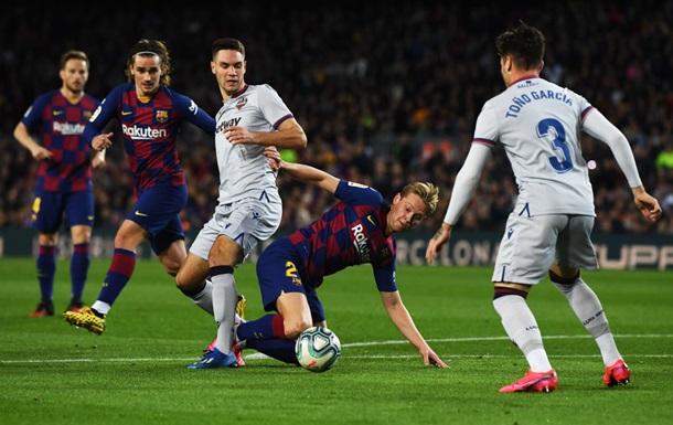 Барселона - Леванте 2:1 видео голов и обзор матча Ла Лиги