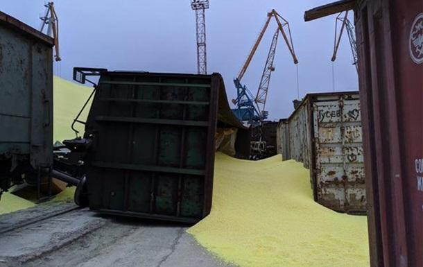 В порту Одесской области рассыпалась сера