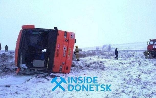 В  ДНР  перевернулся автобус: 22 раненых, есть жертвы