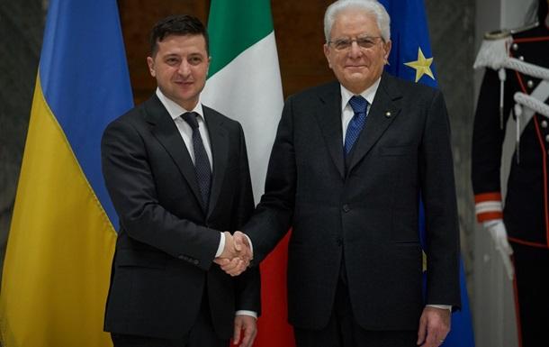 Зеленський в Італії вів за інтеграцію в НАТО і ЄС