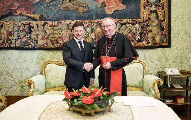 Зеленский встретился с госсекретарем Ватикана