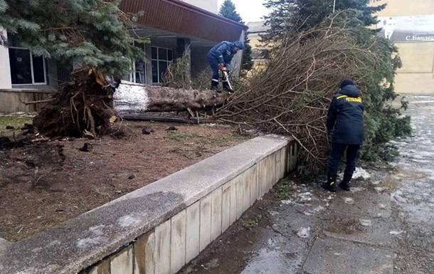 На Прикарпатье ветер срывал крыши со школ и сельсоветов