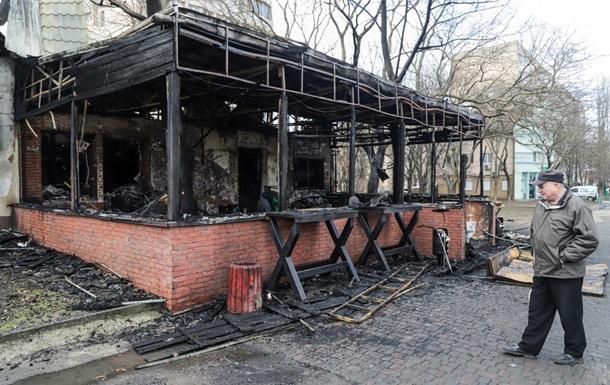 В Одессе сгорело кафе, владельцы подозревают поджог