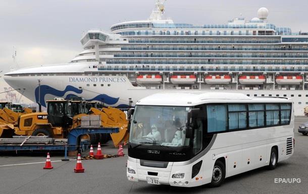 В Японии с лайнера Diamond Princess сошли первые пассажиры