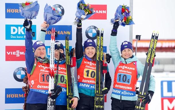 Жіноча збірна України виграла бронзу чемпіонату світу з біатлону
