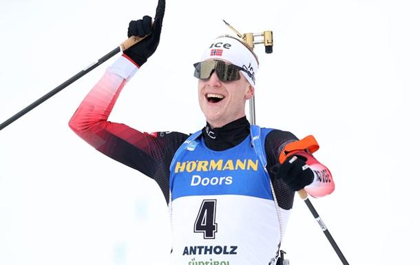 Йоханнес Бе выиграл последнюю гонку чемпионата мира по биатлону
