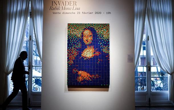 На аукционе продали Мону Лизу из кубиков Рубика: фото