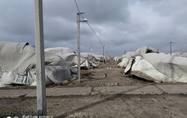 Под Николаевом ураган снес палаточный городок ВСУ