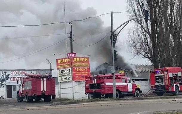 Под Киевом произошел пожар на складе