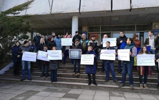 В Украине протестовали в поддержку общественного ТВ и радио